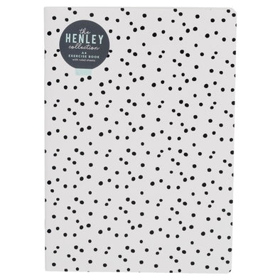 Henley White Monochrome Dot A4 Exercise Book