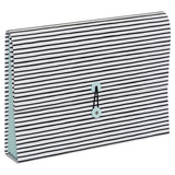Henley Monochrome Stripe Rollbound Expanding File