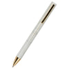 Marble Ballpoint Pen with Gold Trim, Medium Nib, Black Ink