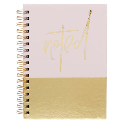 Wild Tropique Pink and Gold Noted A6 Notebook