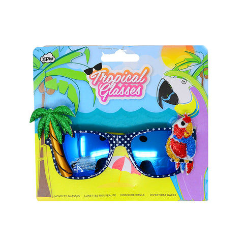 Tropical glasses Parrot style