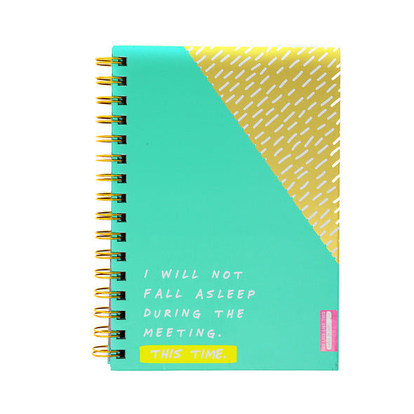 Notes To Self 'I Will Not Fall Asleep' Notebook