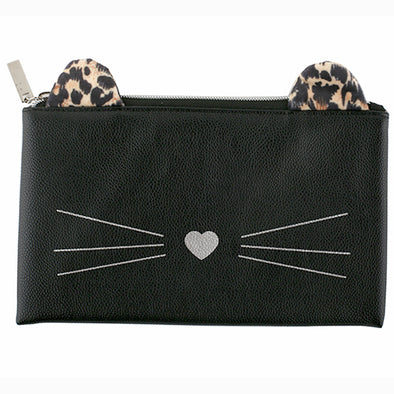 CAT FACE FLAT PENCIL CASE