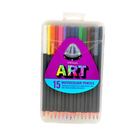 WHSmith Art Watercolour Pencils Pack Of 15