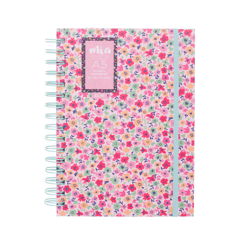 Mia Chunky Notebook A5 Pink