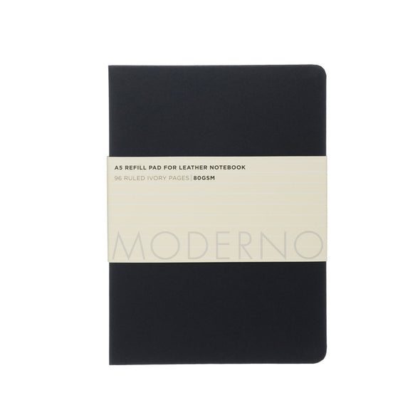 WHSmith Moderno Refillable Notebook  A5 Black