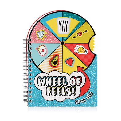 Vibe Squad Wheels of Feels Spinning Notebook