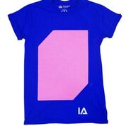 Pink Glow Blue T-shirt For Adult