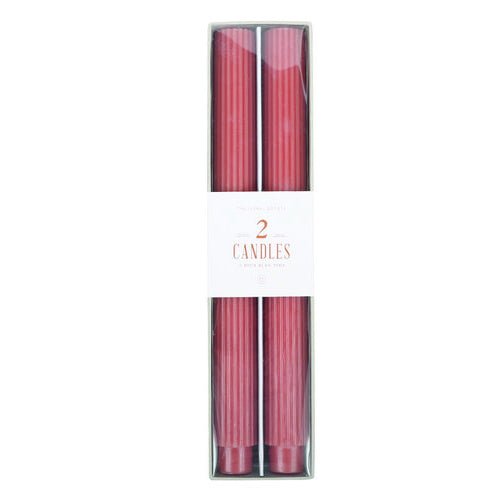 FANCY TAPER CANDLES 10 CLAY