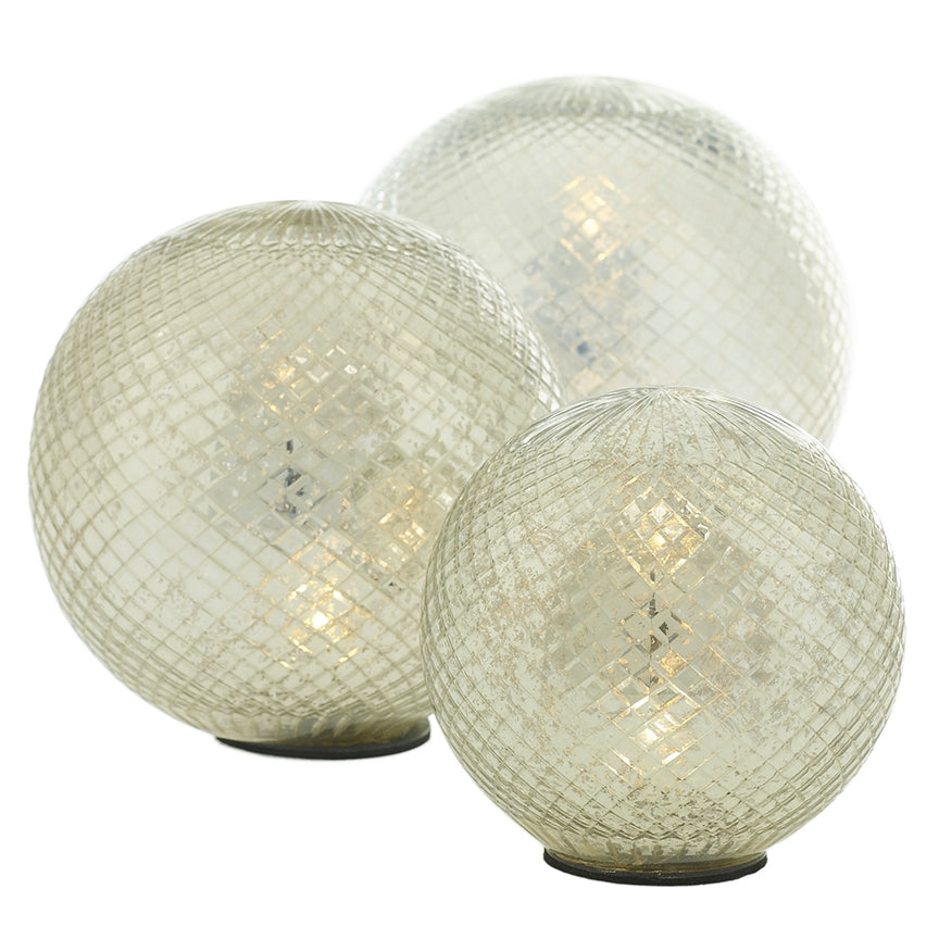 LED SPHERE SILVER 7.5""