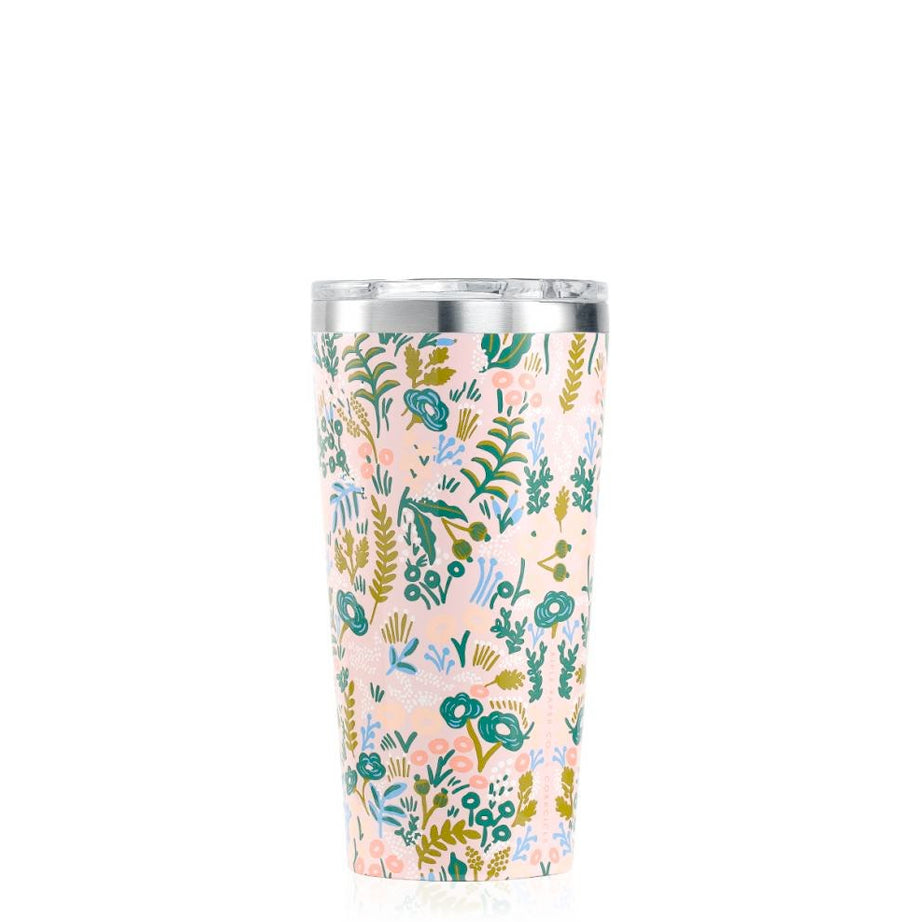 RIFLE PAPER GLOSS PINK TAPESTRY TUMBLER 16 OZ