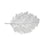 METALLIC LEAF SILVER PLACEMAT LARGE SIZE: 14x22″