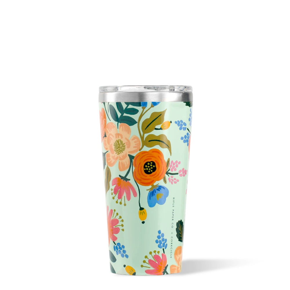GLOSS MINT LIVELY FLORAL TUMBLER 16OZ