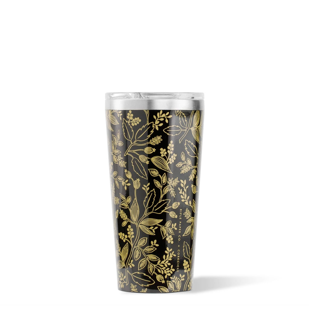 GLOSS BLACK QUEEN ANNE TUMBLER 16OZ