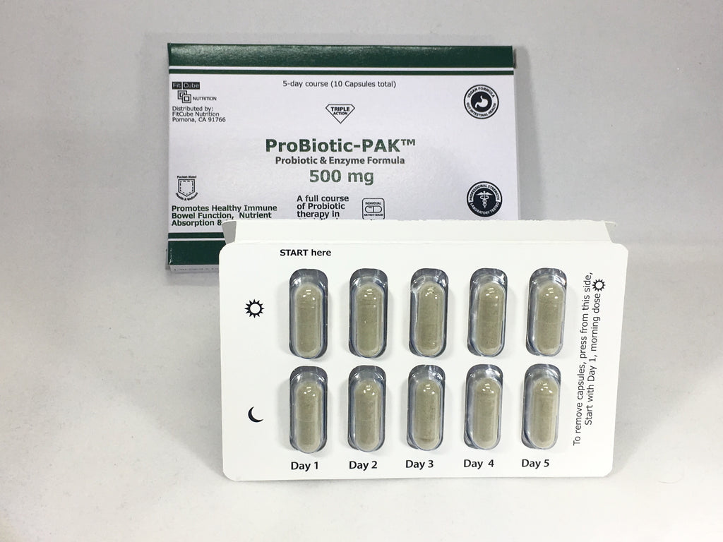 ProBiotic Enzyme PACK Tri-fold Card 10 Capsules