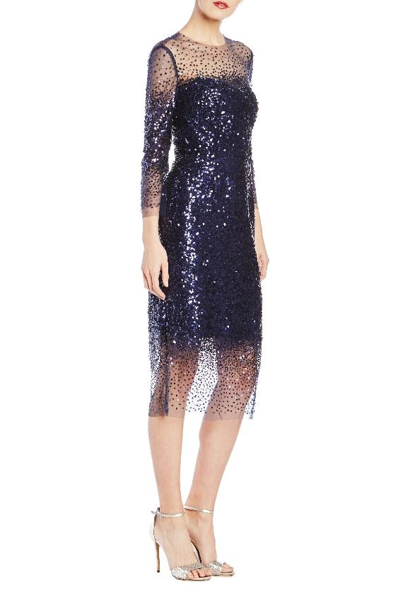Embroidered Illusion Cocktail Dress- FINAL SALE