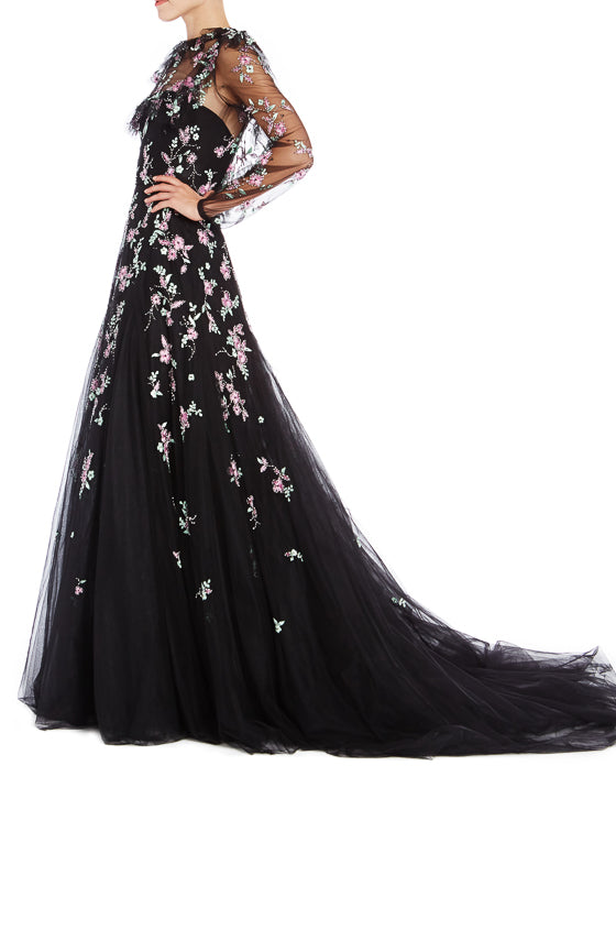 Black RTW Gown Monique Lhuillier S19