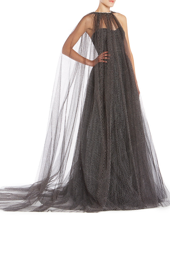 ML Flocked Dot Tulle Cape Spring 2019