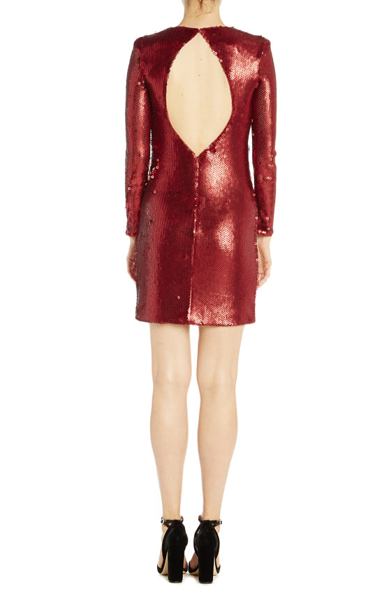 ML Monique Lhuillier Long Sleeve Sequin Cocktail Dress- FINAL SALE