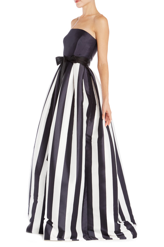 Spring 2019 Striped RTW Gown Monique Lhuillier