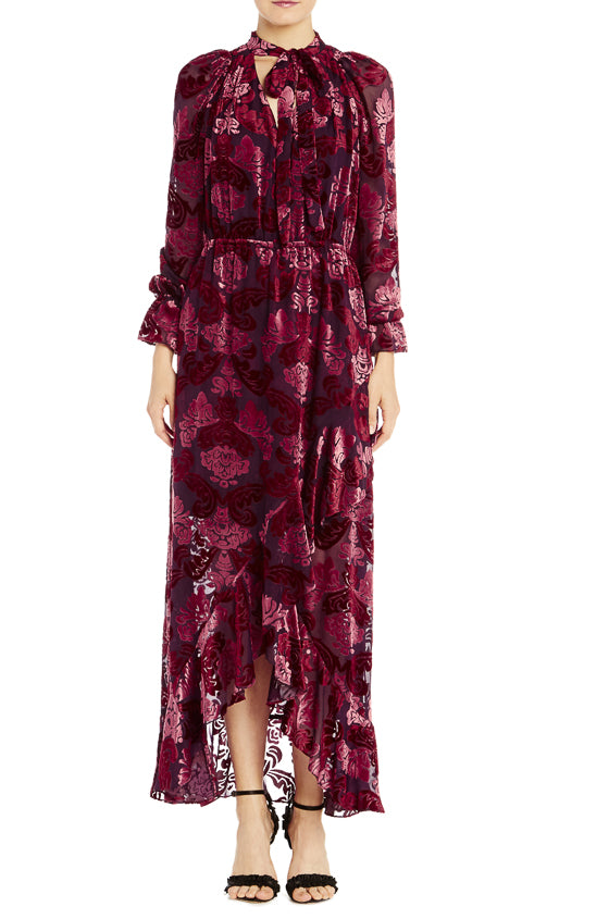 ML Monique Lhuillier Long Sleeve Velvet Dress- FINAL SALE