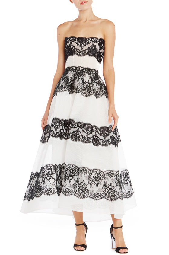 Tea Length Monique Lhuillier Gown