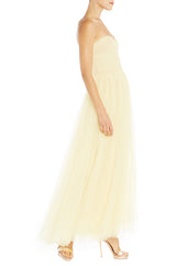 Yellow Tulle Gown Spring 2019 ML