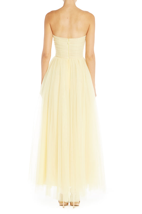 RTW Strapless Gown Yellow Monique Lhuillier