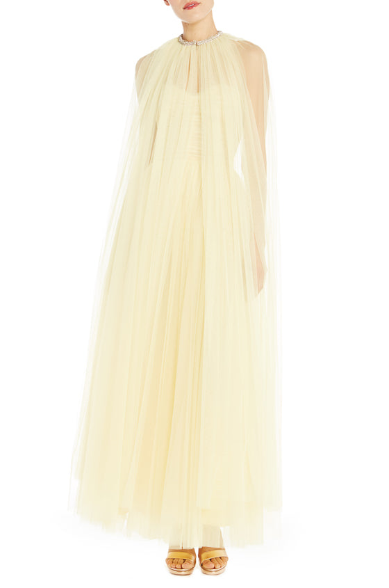 Soft Tulle Yellow Cape