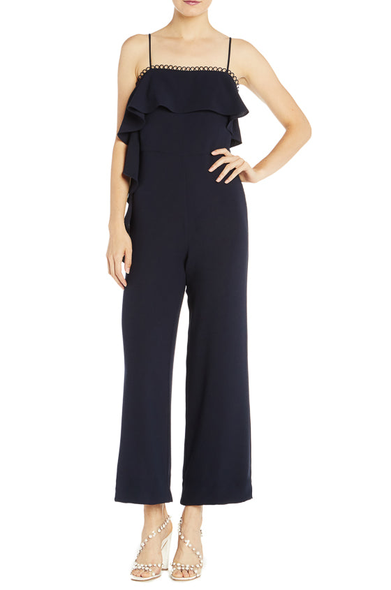 ML Monique Lhuillier Crepe Jumpsuit