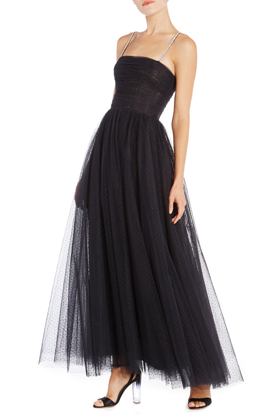 Black Tulle Evening Gown Monique Lhuillier