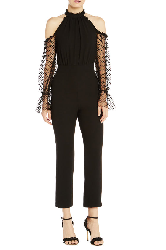 ML Cold Shoulder Crepe Jumpsuit- FINAL SALE