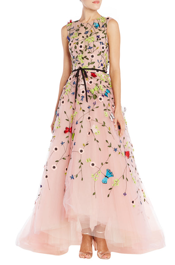Dusty Rose High Low Gown