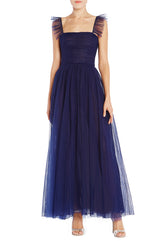 Midnight Tulle Tea Length Dress
