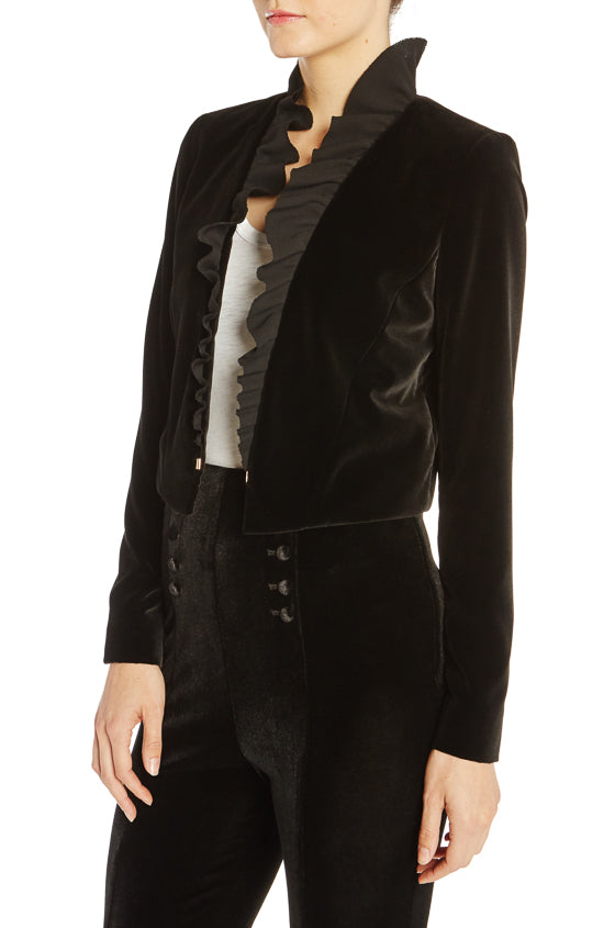 ML Monique Lhuillier Velvet Blazer