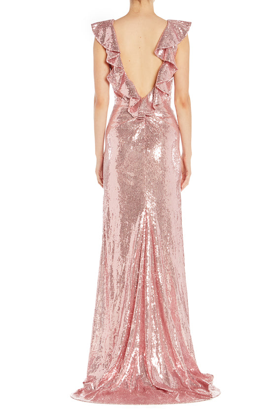 Spring Monique Lhuillier Sequin RTW Gown