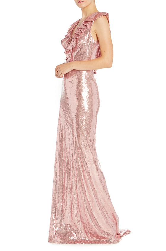 Rose Sequin Gown Monique Lhuillier Spring 2019