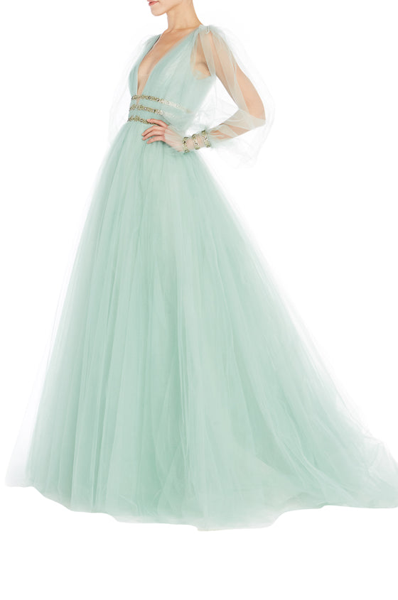 Monique Lhuillier RTW Tulle Ball Gown S19