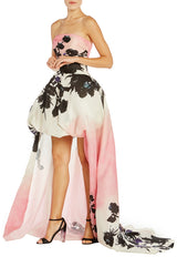 Strapless High Low Ball Gown