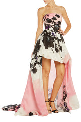High low ball gown Monique Lhuillier
