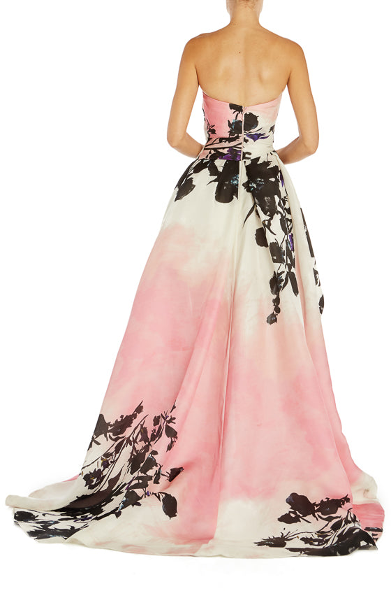 Printed Evening Gown Monique Lhuillier S19