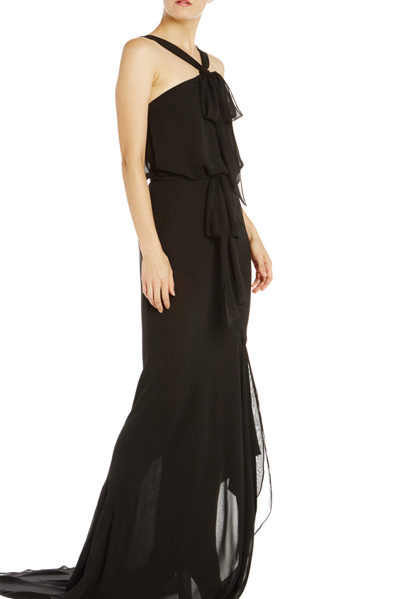 Draped Chiffon Gown- FINAL SALE