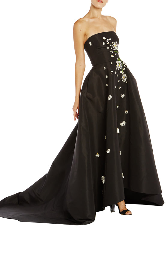 Black Evening Gown Monique Lhuillier RTW