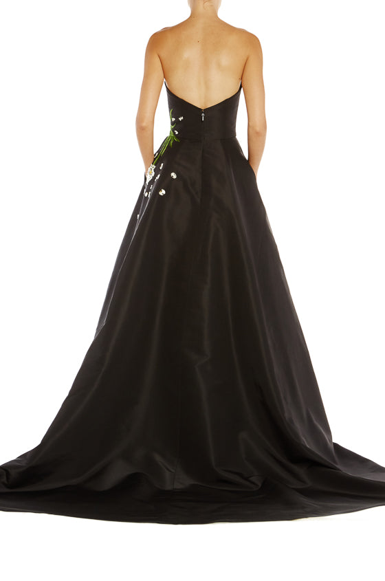 Monique Lhuillier strapless evening gown