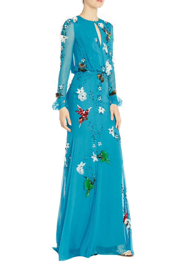 Spring 2019 Floral Gown Long Sleeve
