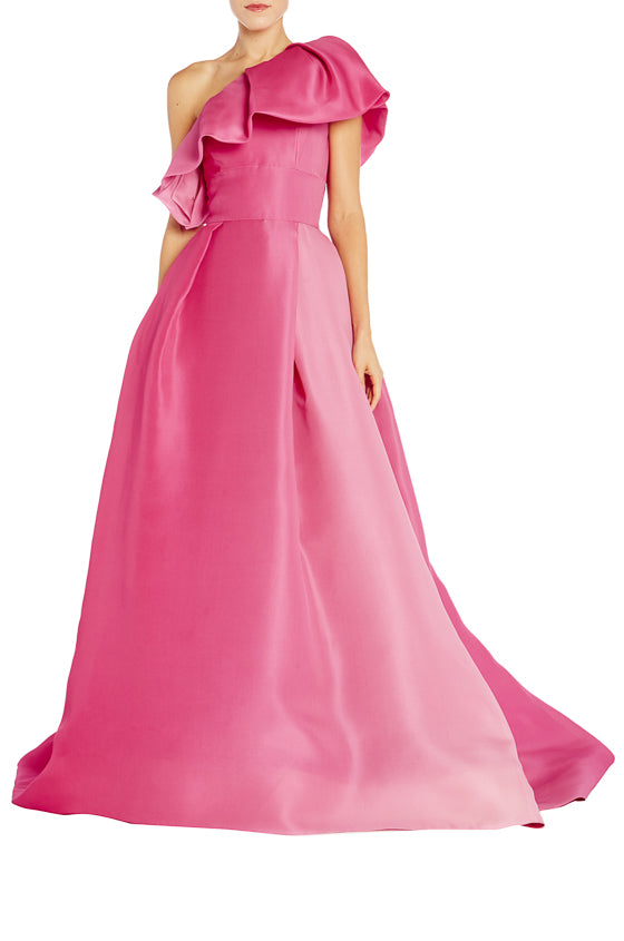 Pink ombre ball gown monique lhuillier