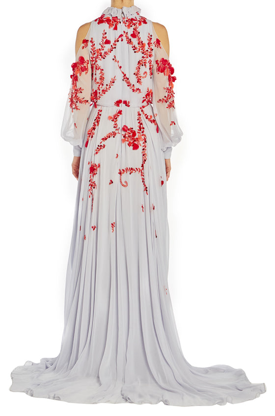 Spring 2019 Floral Embroidered Evening Gown