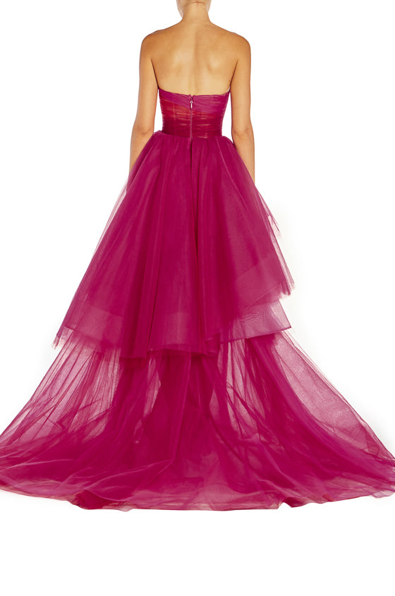 Pink Tulle Gown Monique Lhuillier