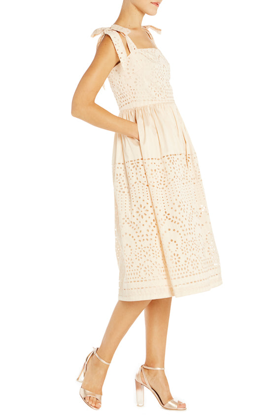 Beige Sundress Monique Lhuillier S19