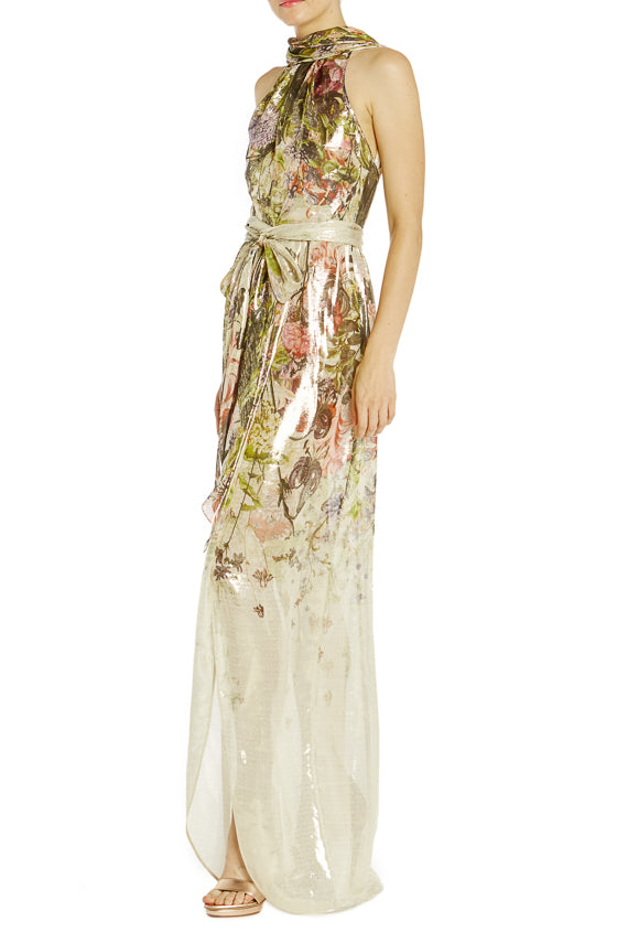 Monique Lhuillier Spring 2019 Floral Gown